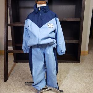 Carolina Tarheels Nike Track Suit kids size 5